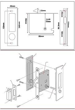 Aleación de cinc deslizante para puerta de granero con llave para ...