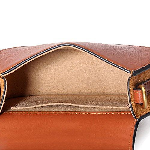 Couleur pour Type Un Sac Simple Usage Quotidien de à d'anneau Asdflina de à bandoulière de Convient Sac bandoulière magnétique Portable rétro Caramel HA7q6w8U