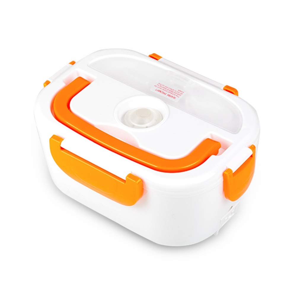 Electric Heating Lunch Box Food Heater Portable Lunch Containers Warming Bento for Home&Office Use 110V Hot Lunch Box (Orange)