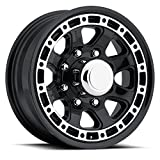 SENDEL T11 ALUMINUM TRAILER WHEEL WITH BLACK MACHINED FINISH 16X6 8X6.50(165.1)  +0 4.90