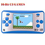 ZHISHAN Handheld Game Console for Children Built in 168 Classic Old Games Retro Arcade Gaming Player Portable Playstation Boy Birthday or Xmas Gift (Blue)