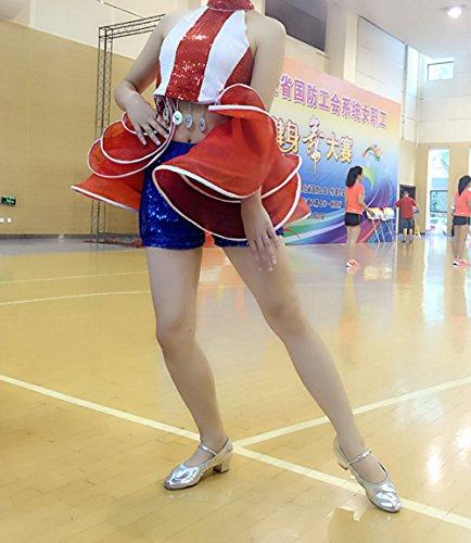 de Danza Charol Mujer para Plata Zapatillas Aimire de x815Eq7Rw