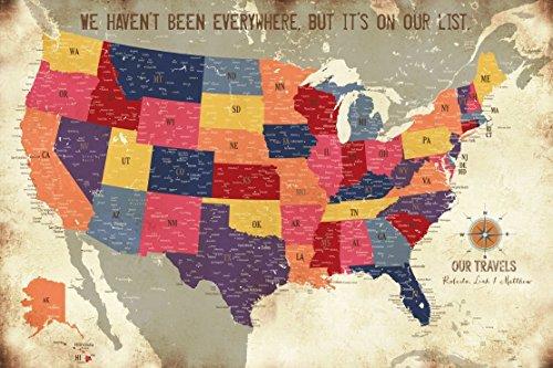 North America Map POSTER, es, Keepsake gift,