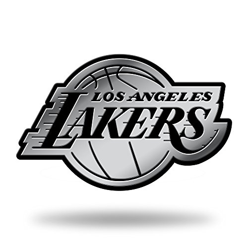 Rico Industries NBA Los Angeles Lakers Chrome Finished Auto Emblem 3D Sticker