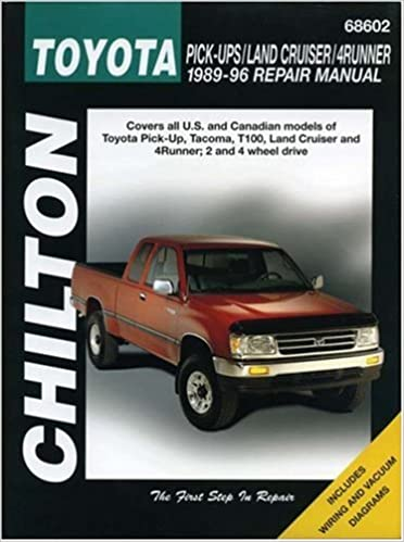 Toyota pick ups land cruiser and 4 runner 1989 96 chilton toyota pick ups land cruiser and 4 runner 1989 96 chilton total car care series manuals 1st edition fandeluxe Choice Image
