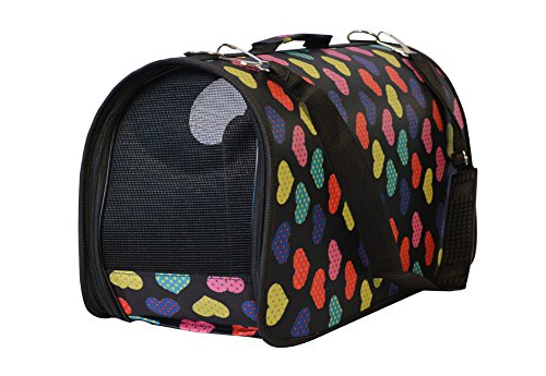 KritterWorld Soft Sided Pet Carrier,Portable Travel Dog Tote Bag Cat Puppy Kennel Crate 21 inch for Small Animals Up to 10 Pounds
