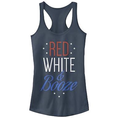5c81b6b0c56d26 Chin Up Juniors  4th of July Red White and Booze Indigo Racerback Tank Top