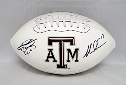 1ce616b73b2 Image Unavailable. Image not available for. Color  Johnny Manziel Mike  Evans Signed Texas A M Aggies Logo Football- JSA Certified Authentic