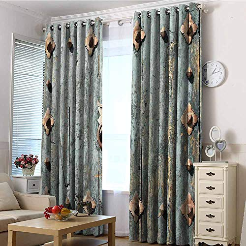 - EwaskyOnline Extra Wide Curtain,Rustic European Cathedral with Rusty Old Door Knocker Gothic Medieval Times Spanish Style,Grommet Curtains for Bedroom,W84x108L Turquoise