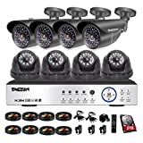 TMEZON 8CH AHD 1080P Security DVR System Included 4 Bullet and 4 Dome High 2.0MP CCTV Cameras 2TB HDD( IP66 Weatherproof, Night Vision, Motion Detection & Email Alert) For Sale