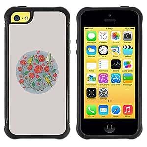 Suave TPU GEL Carcasa Funda Silicona Blando Estuche Caso de protección (para) Apple Iphone 5C / CECELL Phone case / / Flowers Minimalist Birds Nature /