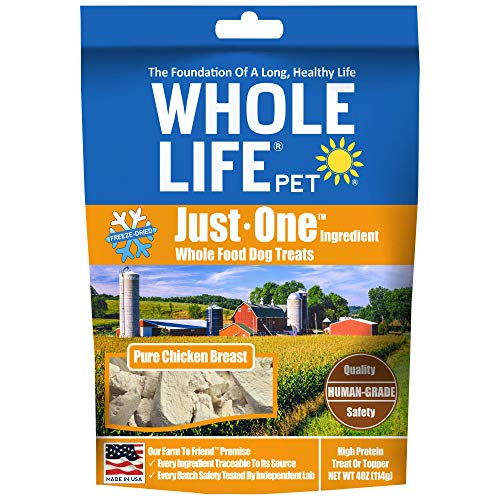 Read About Whole Life Pet Healthy Dog Treats, Human-Grade Chicken, Protein Rich for Training, Picky ...
