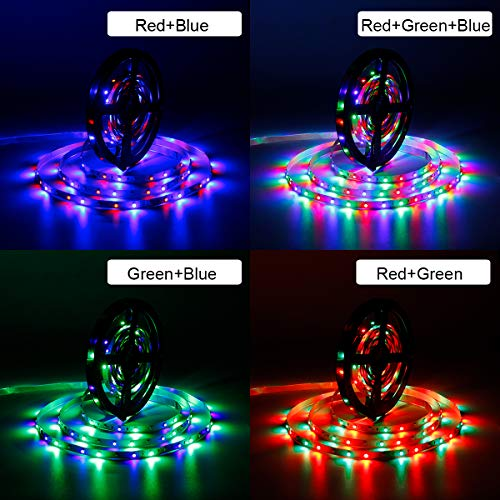 SUPERNIGHT 5M/16.4 Ft SMD 3528 RGB 300 LED Color Changing Kit with Flexible Strip Light+24 Key IR Remote Control+ Power Supply by SUPERNIGHT (Image #2)
