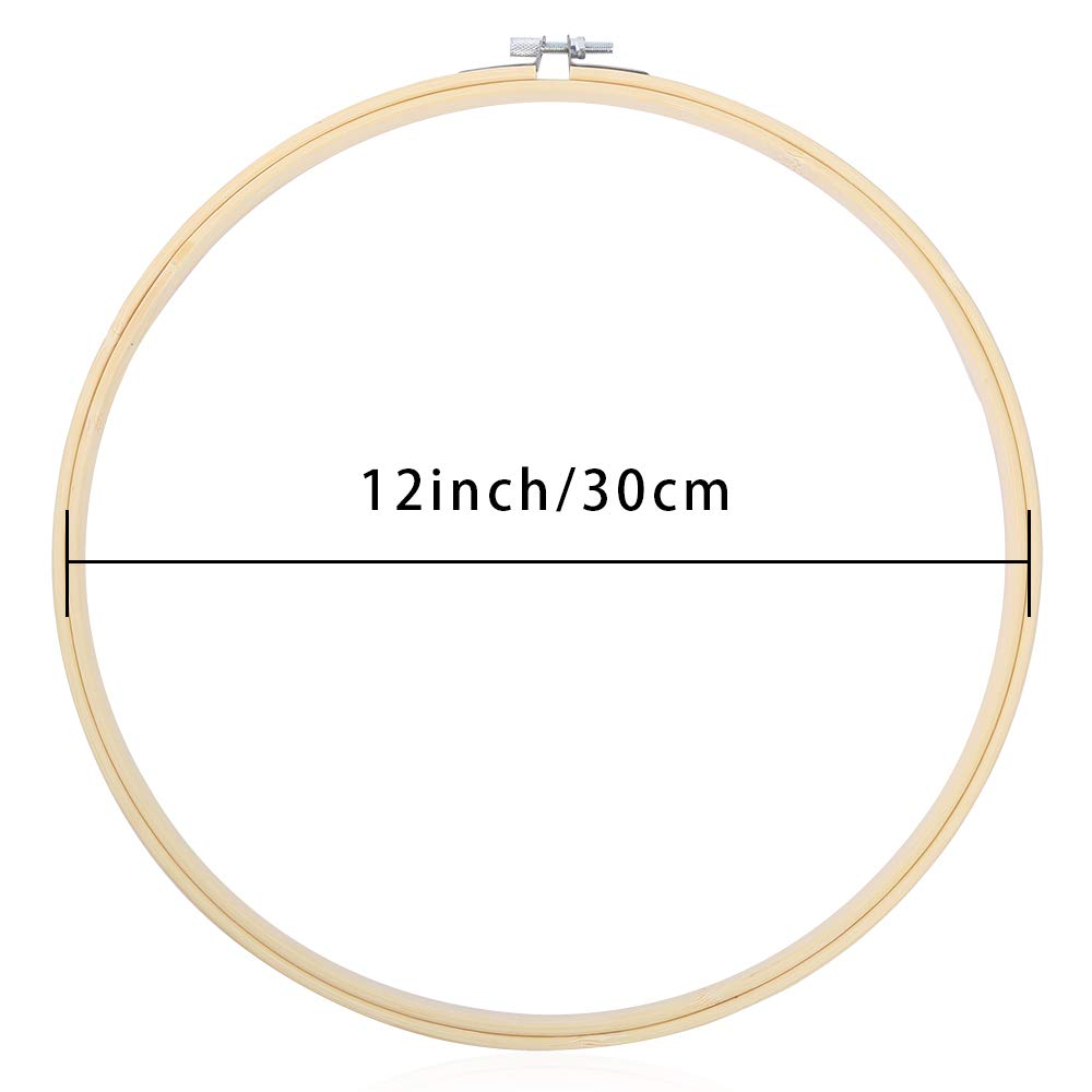 Art Craft Handy Sewing Caydo 6 Pieces 3 Inch Colorful Round Embroidery Hoops Adjustable Circle Cross Stitch Hoop Ring for Christmas Ornaments