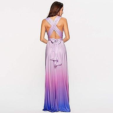 Luckycat Vestido de cóctel Maxi Largo Largo del Vendaje sin Mangas del Vendaje de la gradiente de la Moda de Las Mujeres: Amazon.es: Ropa y accesorios