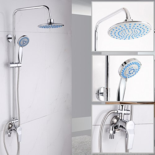 In the Shower Faucet Kitchen Or Bathroom Sink Mixer Tap Shower Water Tap Copper Hot And Cold Shower Easy Shower Water Tap S Single Handle DoubleControlled Mixing Valve Shower Water Tap + Sprinkler Hose + Shower Seat