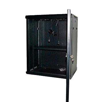 powergreen RAC-15645-HQ Armario Rack 15U 60X45 con Termostato 2 Ventiladores 1 Bandeja Multicolor