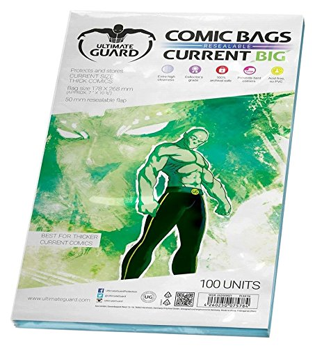 Comic Bags Resealable Thick Current Cards