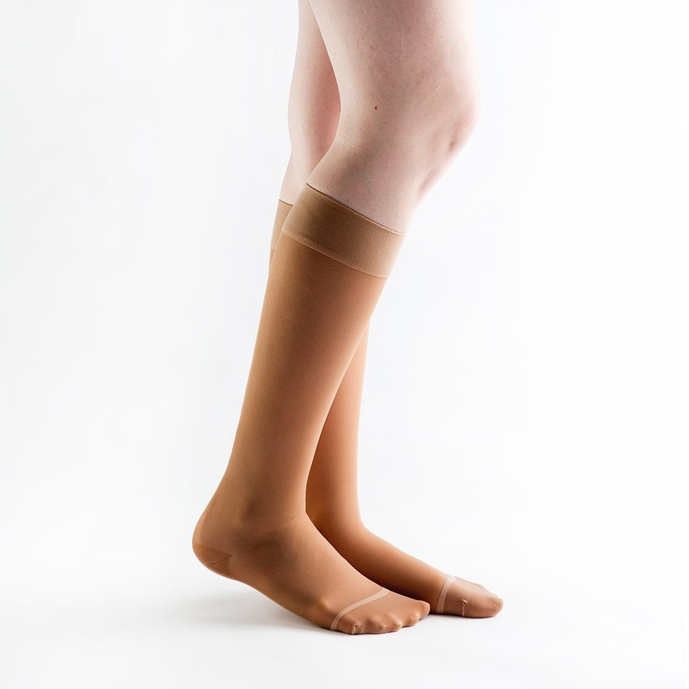Actifi Women's Sheer 20-30 mmHg Compression Stockings - Closed Toe, Knee High by Actifi (Image #1)