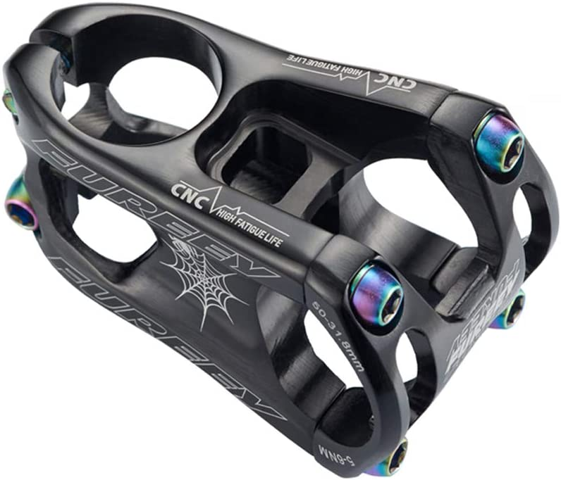 Aluminum Stems 31.8*50mm MTB road XC DH Bike 0° Short Stem /& Top cap set Purple