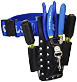 Klein Tools 80006 Trim-Out Took kit with an Array of Klein Tools and a 4-Pocket Leather Tool Pouch, 6-Piece