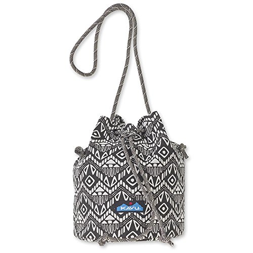 KAVU Bucket Bag Canvas Sling Purse Bag for Women and Kids - Black Batik