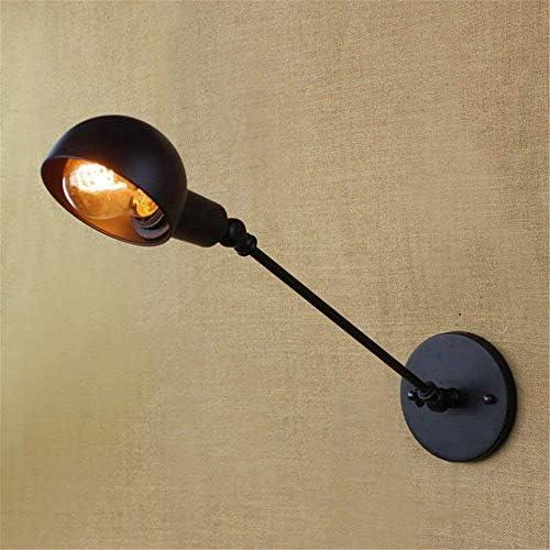 QAS Moderno e Minimalista Lampada da Parete Interna, American Village Indutrial Vintage Lungo Braccio Nero, Illuminazione a Parete di Fondo