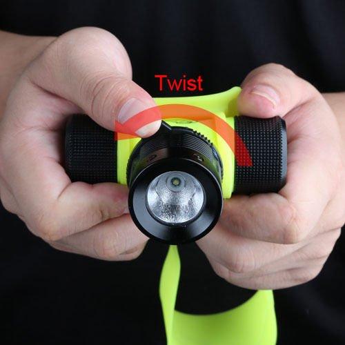 1000LM LED Underwater Waterproof Diving Headlamp Flashlight Torch Headlight