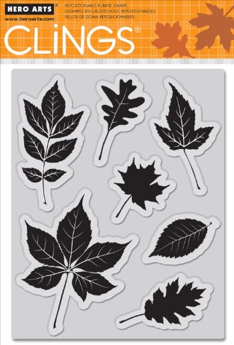 Hero Arts CG625 Cling Stamps, Scattering Leaves
