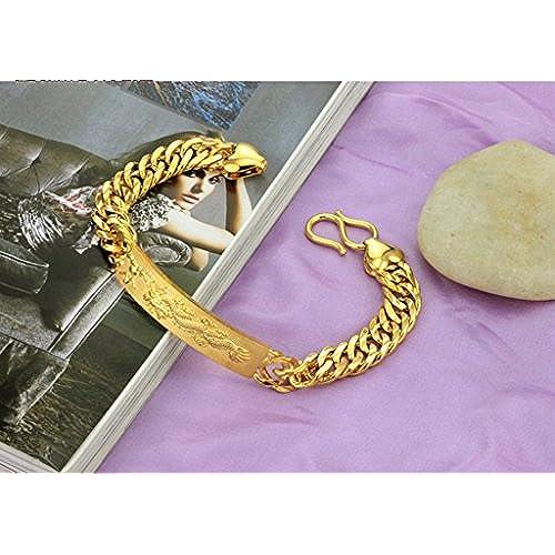 1b0f473e70f9 Outlet AnaZoz Joyería de Moda Pulsera Brazalete de Hombre 18K Chapado en Oro  Compromiso de Boda