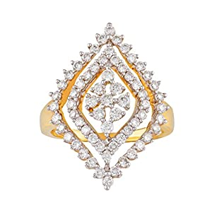 Giantti Party Wear Women's 14KT Diamond Ring - IGL Certified ( 1.033 Ct, I1 Clarity, GH-Colour)