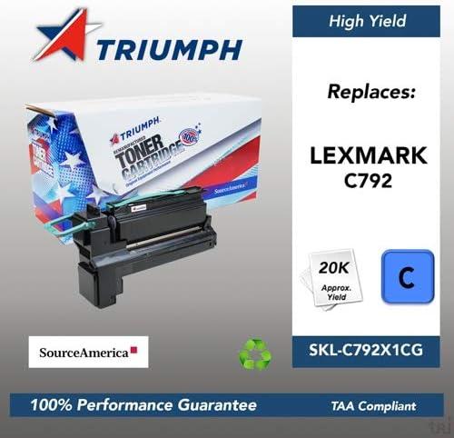 20000 Page Yield C792X1CG Remanufactured Lexmark C792 Cyan Toner Cartridge