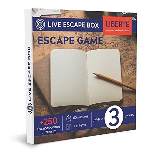 Coffret Cadeau Escape Game Liberté 3 Joueurs Live Escape Box