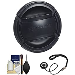 Fujifilm 43mm X Series Front Lens Cap with Cap Keeper + Cleaning Kit