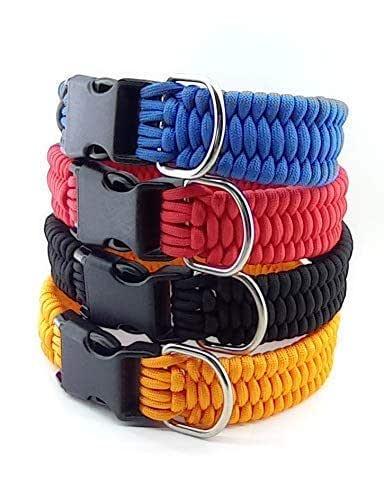 Collar para perro de paracord, personalizable, hecho a mano y a medida. Mod. TRILOBITE.
