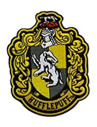 """Outlander Gear Harry Potter Hufflepuff House Crest 4.5"""" Embroidered Iron/Sew-on Patch"""