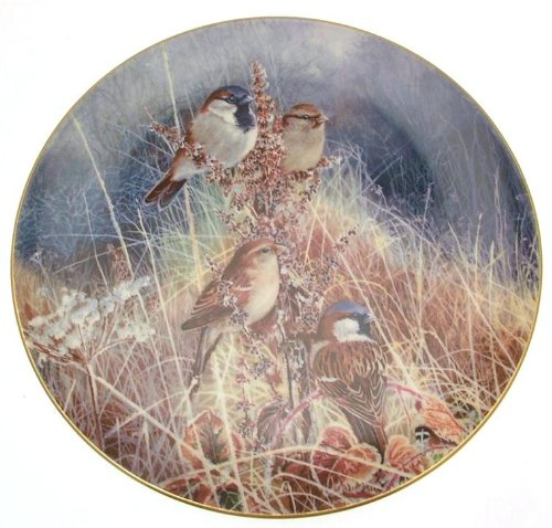 Compton and Woodhouse c1994 Sparrows Frosty Mornings David Feather Limited Edition 15000 Plates only CP1922