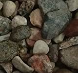 Safe & Non-Toxic {Various Sizes} 5 Pound Bag of Gravel, Rocks & Pebbles Decor for Freshwater & Saltwater Aquarium w/ Natural Smooth River Inspired Rustic Earth Toned Style [Tan, Red & Gray]
