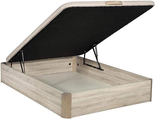 Santino Canapé Abatible Wooden Gran Capacidad Cambrian 150x190 cm con Montaje a Domicilio Gratis
