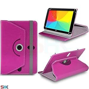 LG G Pad 7.0Pulgadas Tablet Función Giratoria 360Degree funda de piel sintética tipo libro Primavera atril (shk7) SVL104BY SHUKAN® rosa hot pink