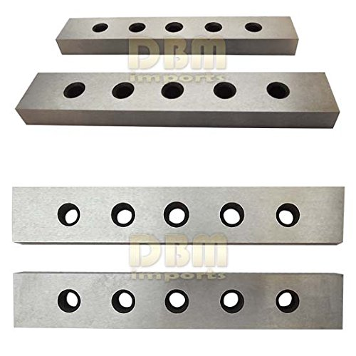 4 Pair 3/16'' - 1/2'' x 6'' 8PC Precision Mechanist Parallel Steel Block Gauge