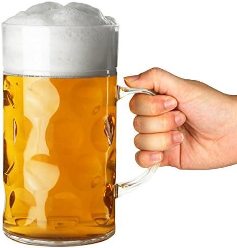 Bar@Drinkstuff - Stein plástico cerveza cerveza 2 | mugs 1ltr cerveza stein, alemán stein, plástico
