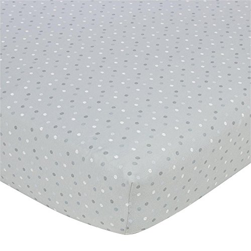 Gerber Knit Crib Sheet - Grey Multi Dot