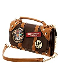 Official Harry Potter Inside Out Crossbody Clutch Purse with Strap - Small Bag