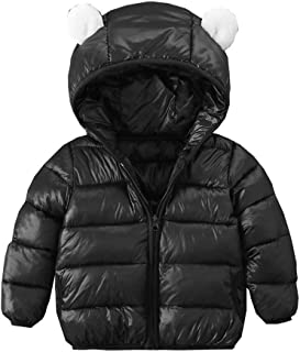 ARAUS Giubbotto con Cappuccio da Bambine Bimbe Zip Up Cappotto Impermeabile Incappucciato Inverno Autunno 7010P10