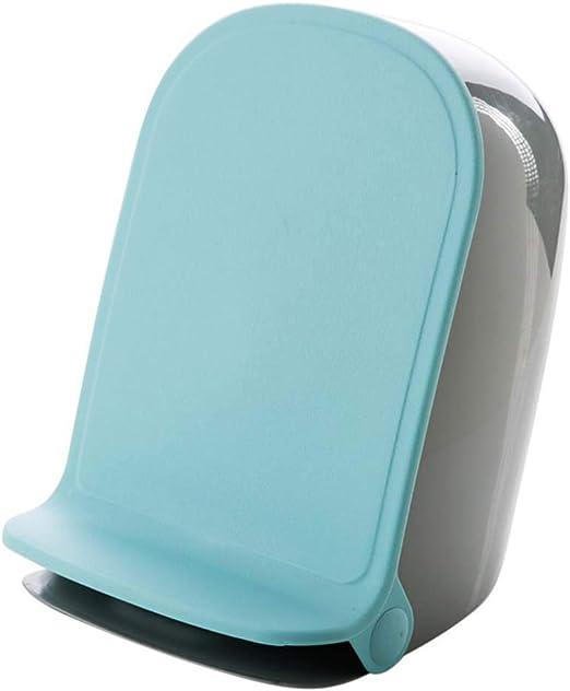 Home Contenedor de Reciclaje Cubo Basura con Tapa Plana   para Dormitorio, Baño, Cocina, Jardín Pedal,Contenedor basura de plástico con Ideal para la cocina,15L,Blue: Amazon.es: Hogar
