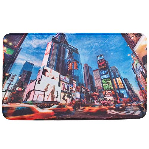 BESTChoiceForYou Times Square NYC Floor Mat Colorful Doorway Collectible Accent Machine Wash Nice