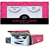 Elegant Lashes #052 Black False Eyelashes (Triple Pack - 3 Pairs) | Ultra-Short, Natural 100% Human Hair Under Lashes for Bottom/Lower Lashes