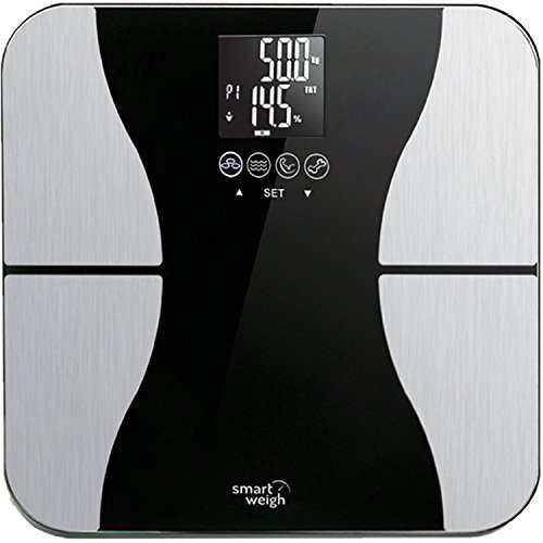 Smart Weigh Ultraschmale sbs500die digitale Präzisionswaage von Körperfett-mit Glasplatte