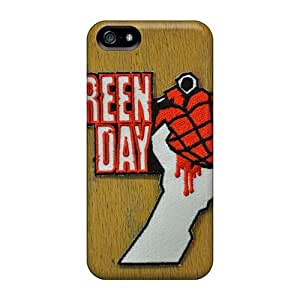 Shock Absorption Cell-phone Hard Cover For Iphone 5/5s (dJT14059ssVF) Customized High Resolution Green Day Band Pattern